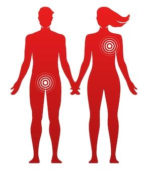 Unterschiedliche vorlieben in der konzeptvektorillustration für romantische oder sexuelle beziehungen