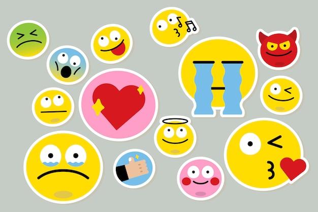 Unterschiedlicher emoji-satz