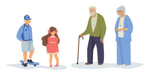 Unterschiedlicher generationssatz