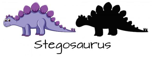 Unterschiedliches design des dinosauriersatzes