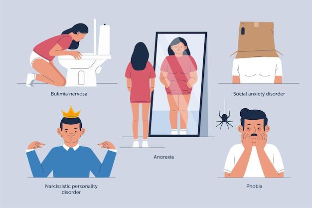 Unterschiedliches konzept für psychische störungen
