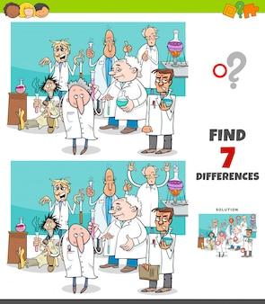 Unterschiedspiel mit karikaturwissenschaftlergruppe
