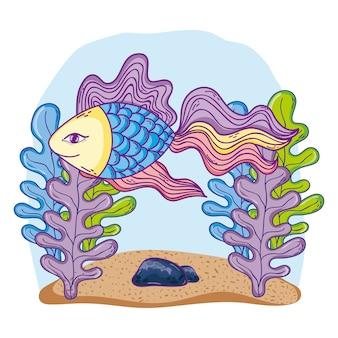 Unterseekarikatur der fische