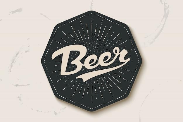 Untersetzer für bier mit handgezeichneter beschriftung bier