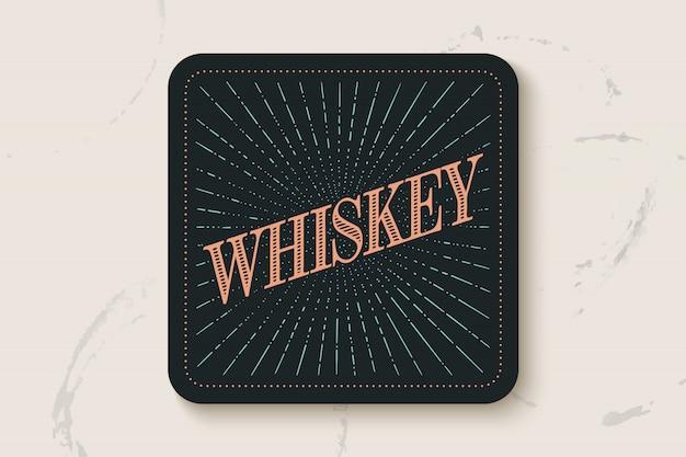 Untersetzer mit aufschrift whisky