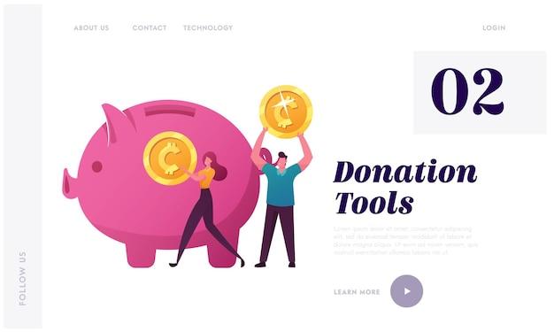 Unterstützen sie die landing page-vorlage für crowdfunding-projekte.