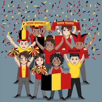 Unterstützergruppe der belgischen fußballnationalmannschaft