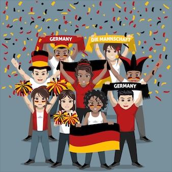 Unterstützergruppe der deutschen fußballnationalmannschaft