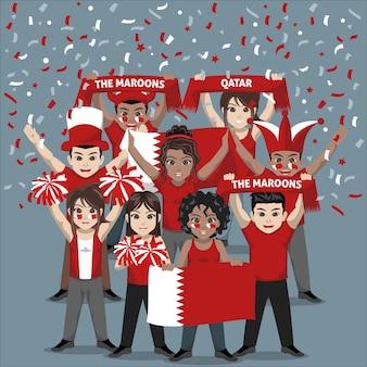 Unterstützergruppe der fußballnationalmannschaft von katar