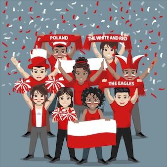 Unterstützergruppe der polnischen fußballnationalmannschaft