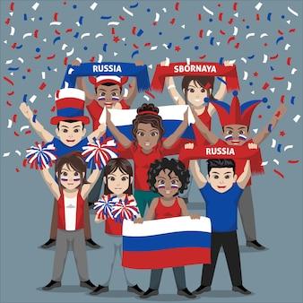 Unterstützergruppe der russischen fußballnationalmannschaft