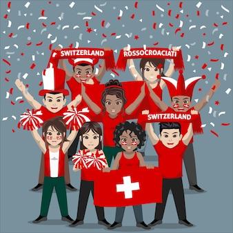 Unterstützergruppe der schweizer fussballnationalmannschaft