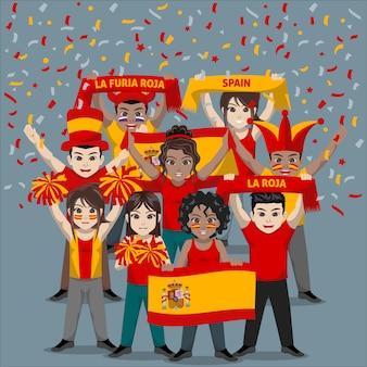 Unterstützergruppe der spanischen fußballnationalmannschaft