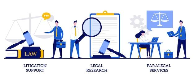 Unterstützung bei rechtsstreitigkeiten, rechtsrecherche, paralegal services. satz von anwaltskanzlei, forensische buchhaltung