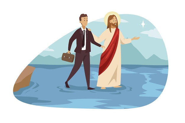 Unterstützung, christentum, geschäftserfolg.