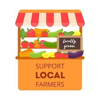 Unterstützung des lokalen bauernkonzepts