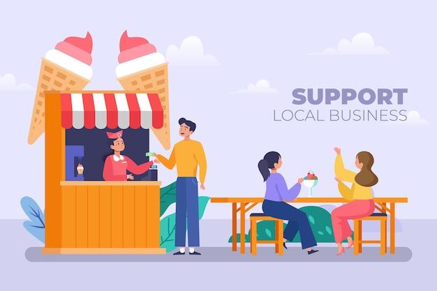 Unterstützung des lokalen geschäftsdesigns