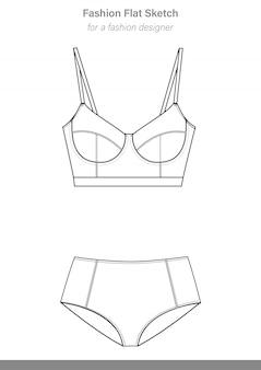 Unterwäsche vector images illustrator-vorlage