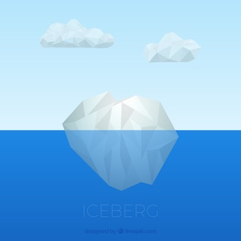 Unterwasser eisberg