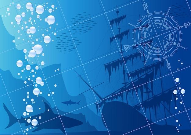 Unterwasser-hintergrund