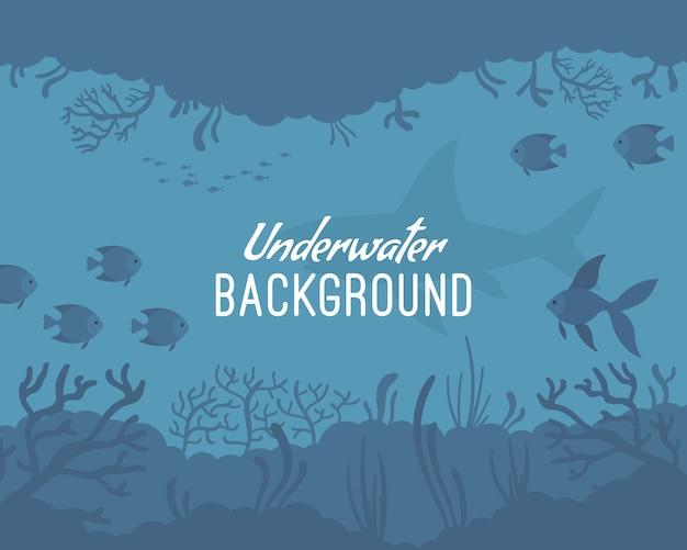 Unterwasser hintergrundvorlage