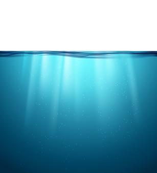 Unterwasser-meeresoberfläche