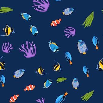Unterwasser nahtlose muster