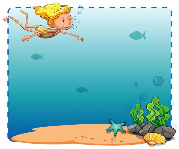 Unterwasser rahmen