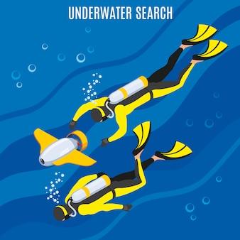 Unterwasser-suche
