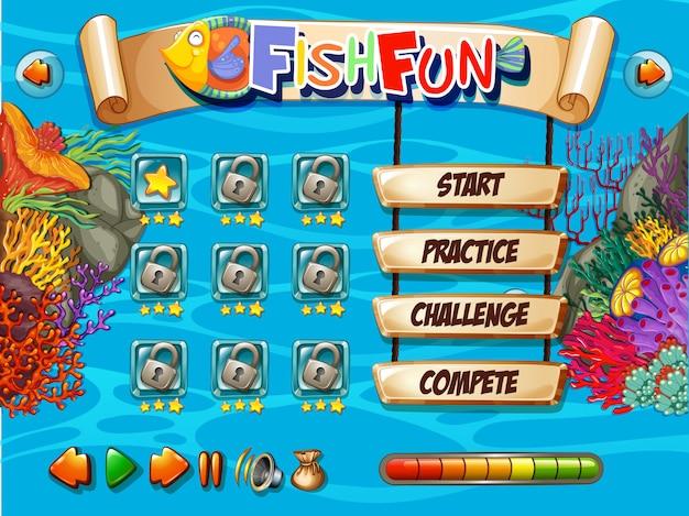 Unterwasserfisch spielvorlage