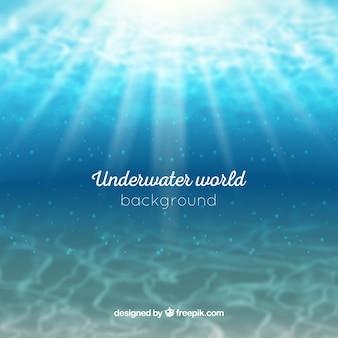Unterwasserhintergrund in der realistischen art
