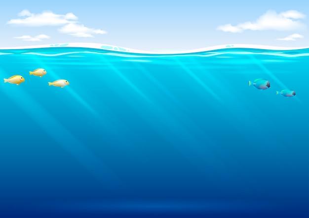 Unterwasserhintergrund in der vektorgrafik