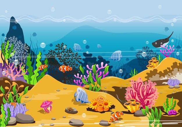 Unterwasserleben in den tropen und die wunder der natur.