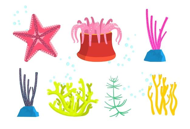 Unterwasserpflanzen und -tiere