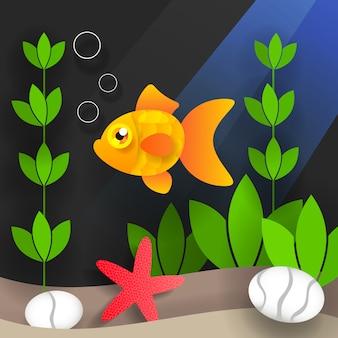 Unterwasserwelt und meeresbewohner