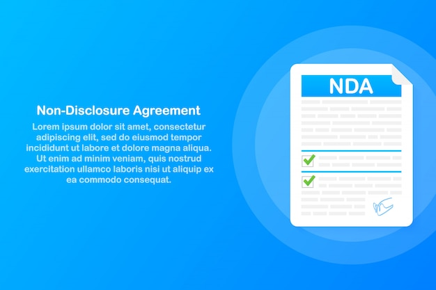 Unterzeichnung der nda. dokument zur geheimhaltungsvereinbarung.