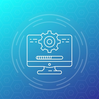 Update, software-liniensymbol, vektordesign