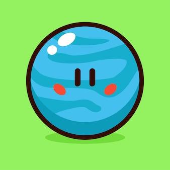 Uranus-cartoon-vektor-illustration