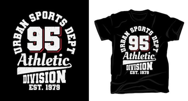 Urban sports fünfundneunzig typografie für shirt design