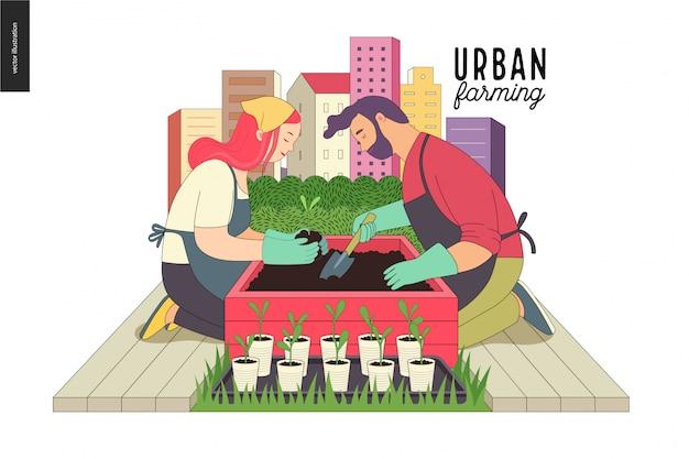 Urbane landwirtschaft und gartenbau