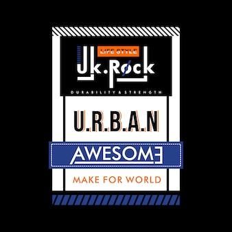 Urbanes fantastisches mutiges entwurfst-shirt