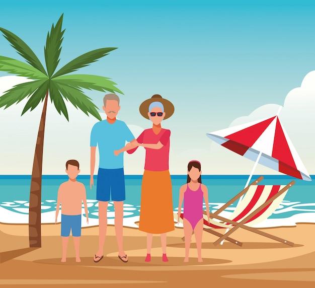 Urlaub am strand familie