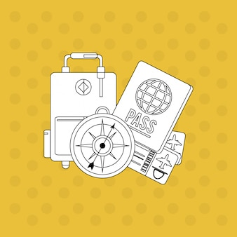 Urlaub-icon-design