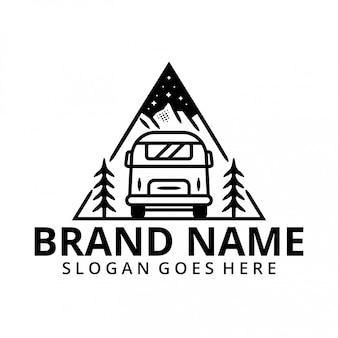 Urlaub mit auto im berg logo