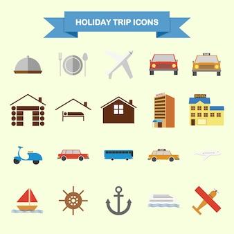 Urlaub reise-icons