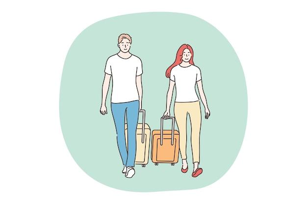 Urlaub, reisen, tourismuskonzept.