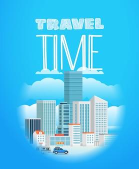 Urlaub reisende komposition