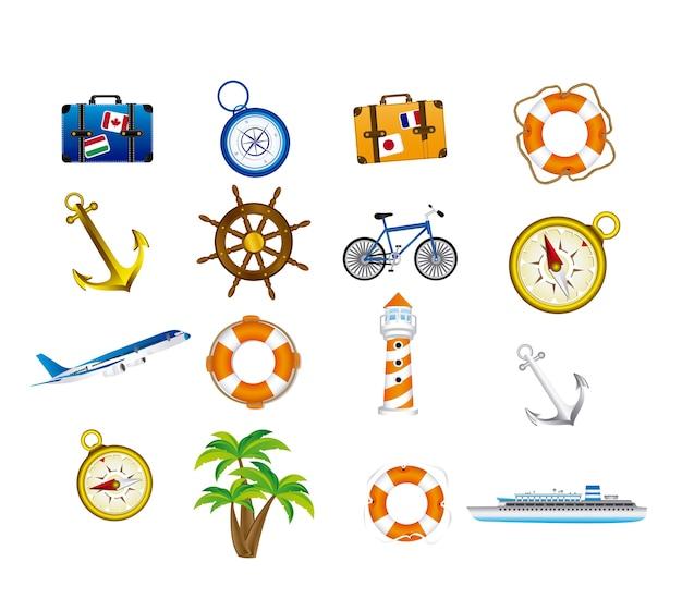 Urlaub-symbole