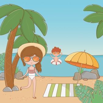Urlaub und sommer im freien