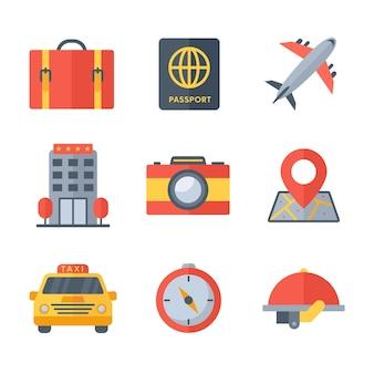 Urlaubs- und travelling-symbol